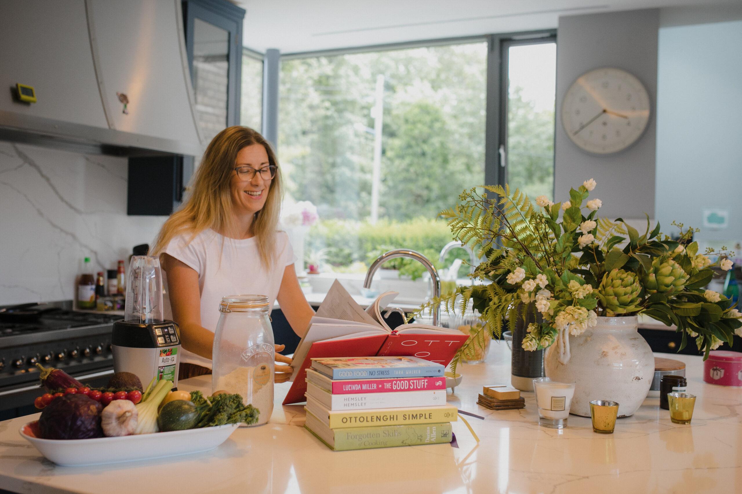 Denise Wogan at kitchen island